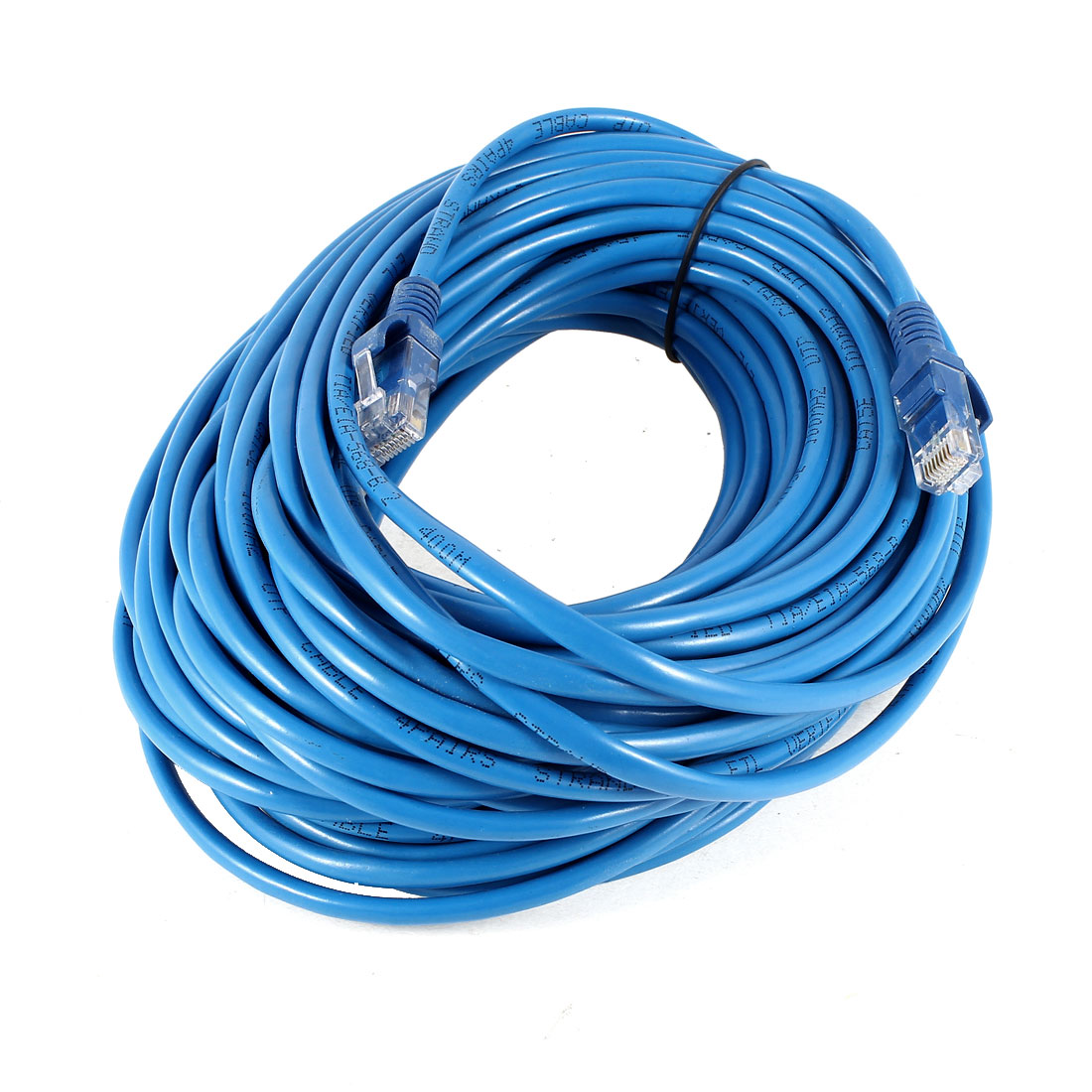 Unique Bargains Blue RJ45 8P8C Male to Male Connector Ethernet LAN Network Round Cable Lead 25M