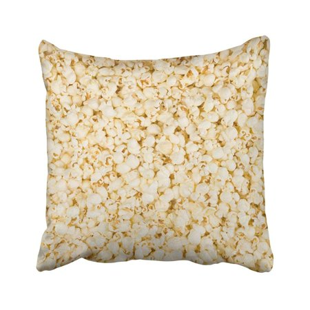 ARTJIA White Corn Scattered Salted Popcorn Yellow Sweet Butter Cafe Candy Caramel Chocolate Close Pillowcase 18x18 inch](Halloween Popcorn Candy Corn Hands)