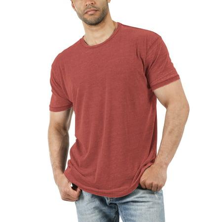 Men's Casual Crewneck Tee Soft Faded Vintage Burnout T (Sale Vintage T-shirt)