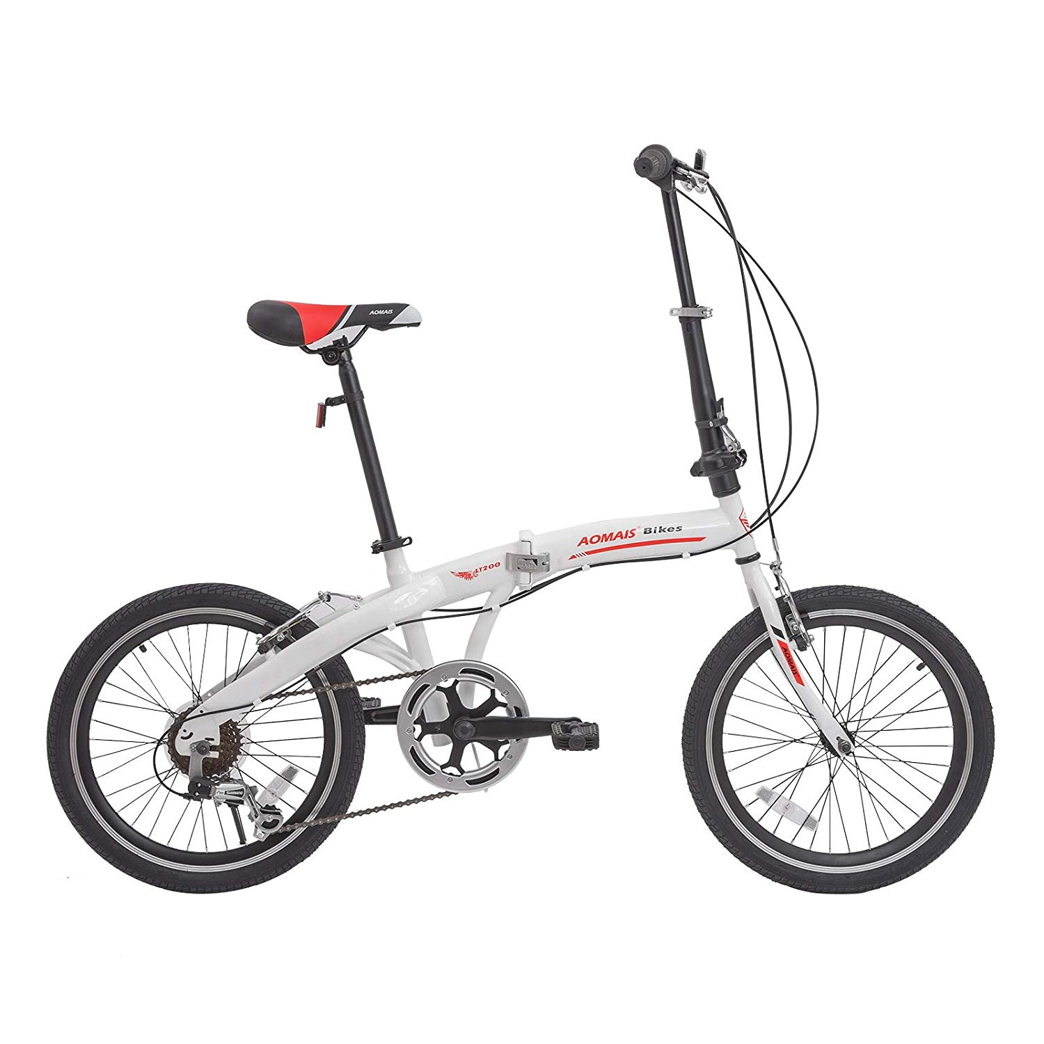 "Murtisol 20"" 7 Speed folding commuter bicycle foldable bike for adults DISC BRAKE"