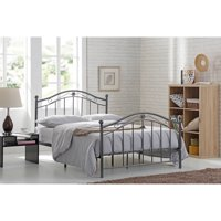 Hodedah Complete Charcoal Metal Bed, Multiple Sizes