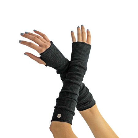 Long Arm Warmers With Thumb Hole](Black Arm Warmers)