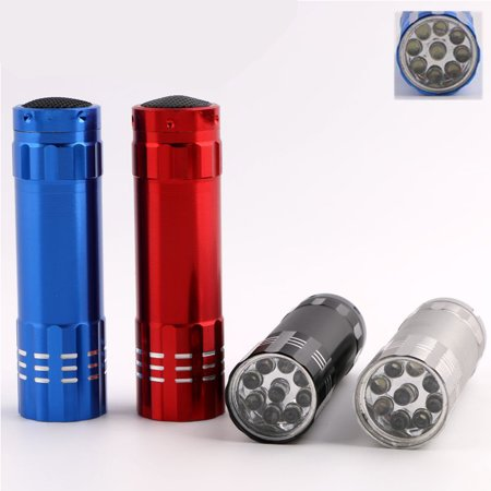 9 LED Flashlight for Fluorescent Agent Detection Money Detect (Best Fluorescent Lights For Office)