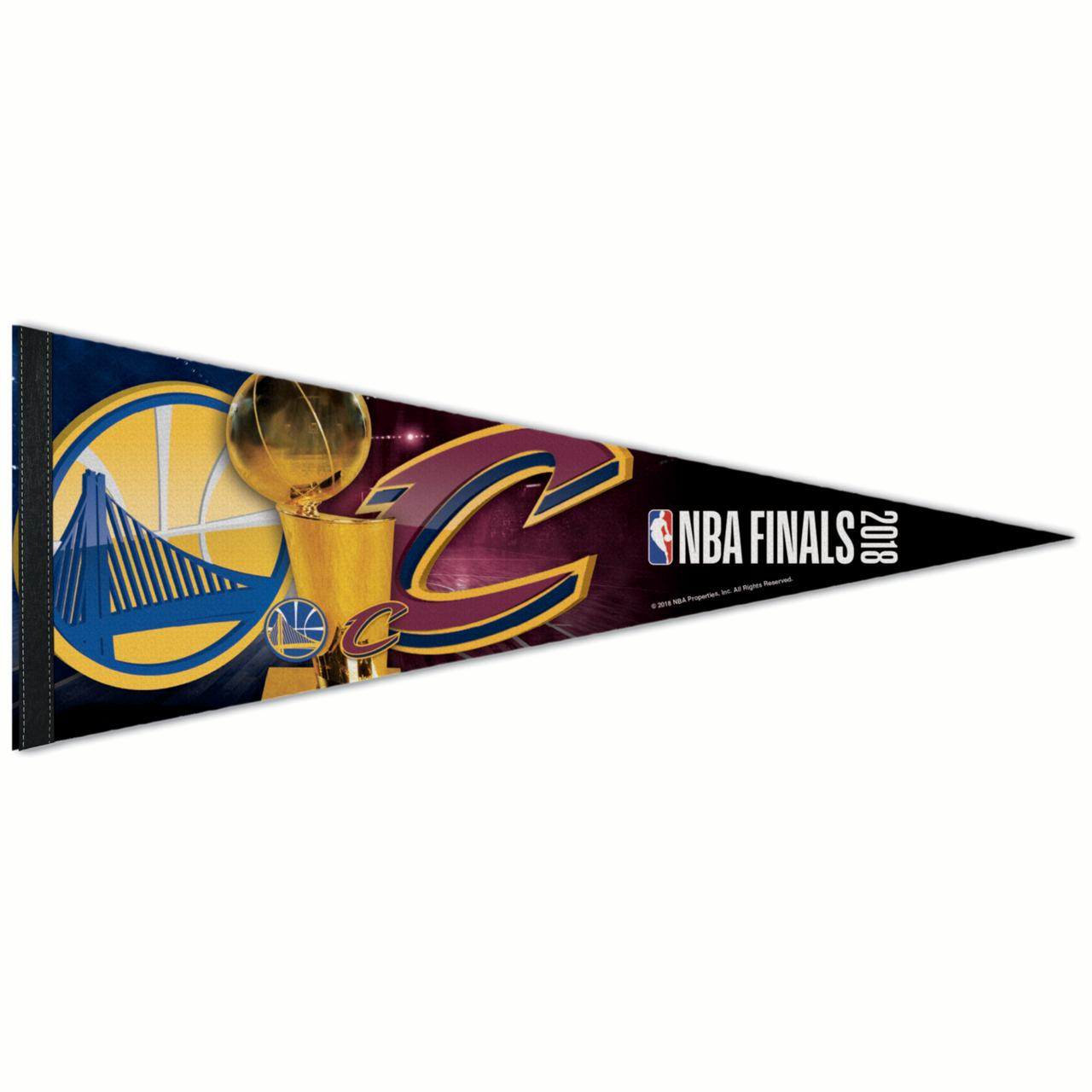 """Golden State Warriors vs. Cleveland Cavaliers WinCraft 2018 NBA Finals Bound Dueling 12"""" x 30"""" Pennant - No Size"""