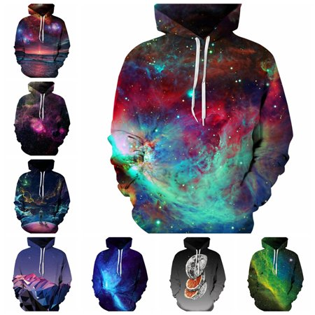 3D Print Hoodies Sweatshirts Men/Women Hoodies With Jacket Print Stars Nebula Loose Hooded Hoody Tops Lovers Hoodies