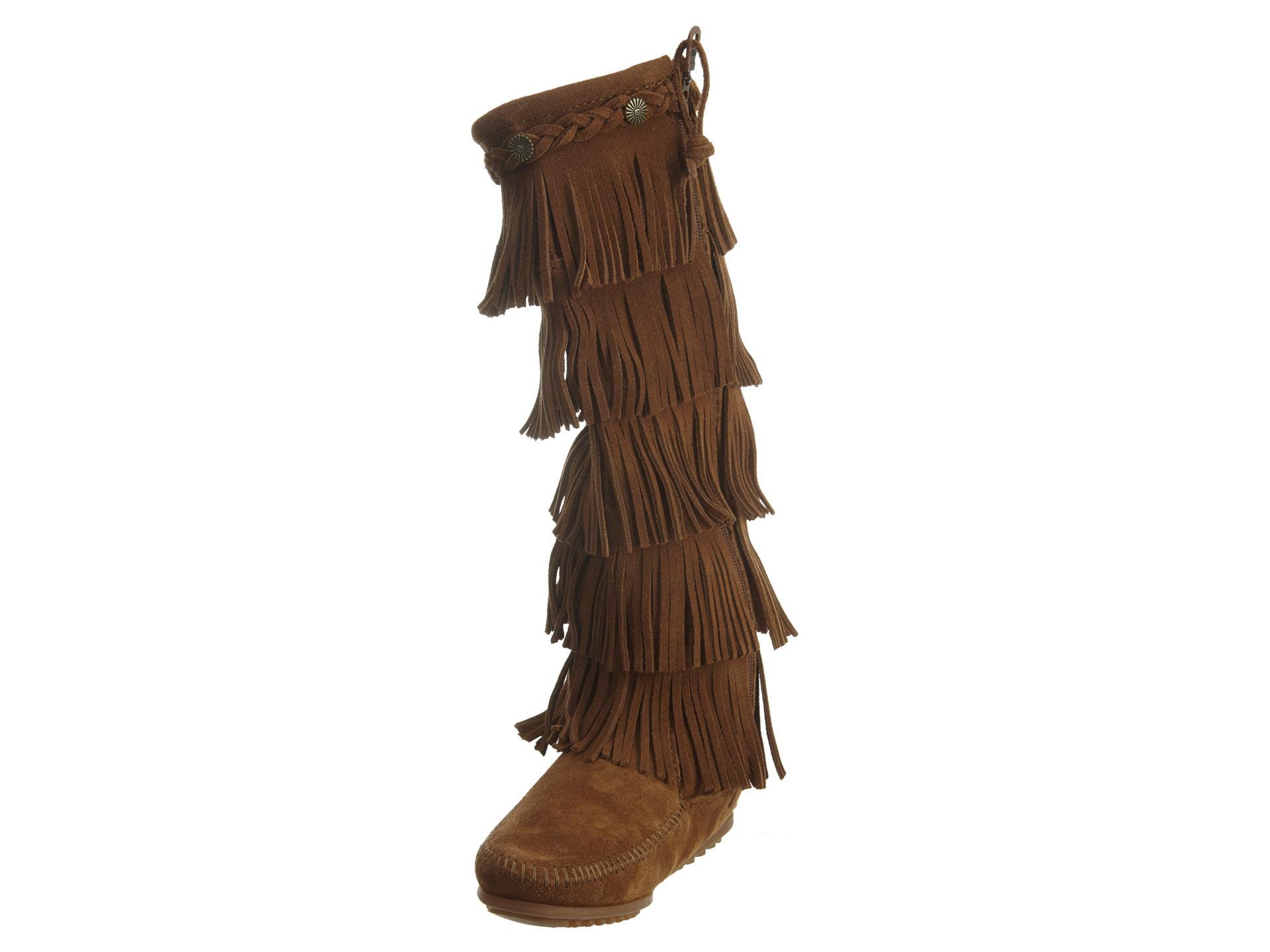 Minnetonka 5 Layer Fringe Boot Womens Style : 1658 by