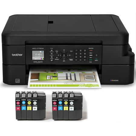 Brother MFC-J775DWL INKvestment Compact Color Inkjet All-in-One Multifunction Printer with up to 2 Years of Ink (8 INKvestment Cartridges