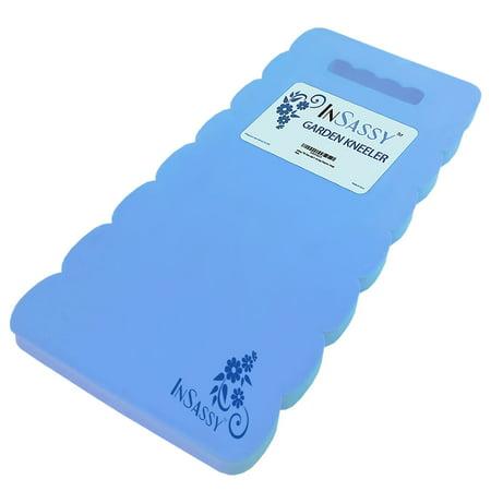 InSassy (TM) Extra Large Garden Kneeler Wave Pad - High Density Foam for Best Knee Protection (Blue)
