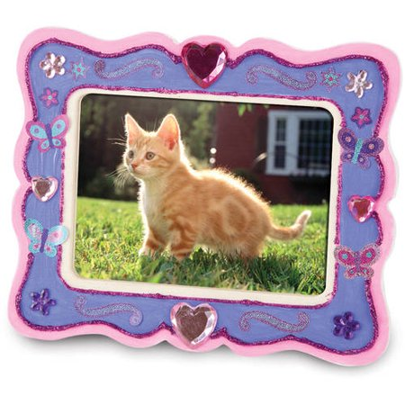Melissa doug decorate your own wooden picture frame for Decorate your own picture frame craft