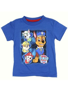 Paw Patrol Little Boys' Toddler Puppy Grid Tee (2T)