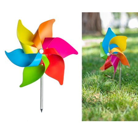 - 3 Pc Wind Mills Yard Decoration Windmill Flower Spinner Garden Decor Colorful