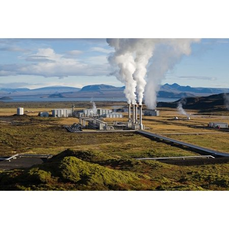 Canvas Print Power Plant Geothermal Geothermal Energy Stretched Canvas 10 x