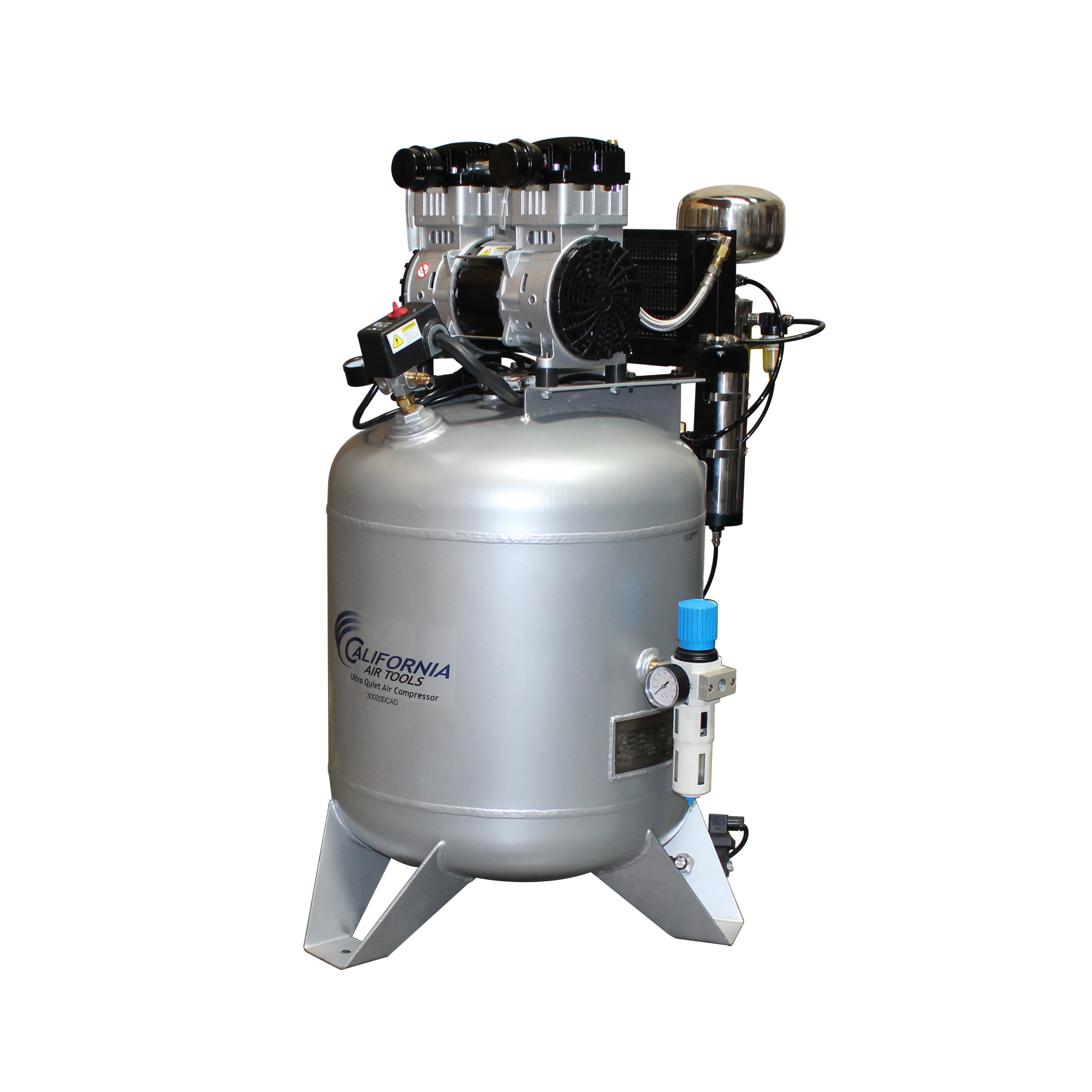 California Air Tools 30020DCAD Ultra Quiet & Oil-Free 2.0 Hp, 30.0 Gal. Steel Tank Air Compressor with Air Drying System & Auto Drain