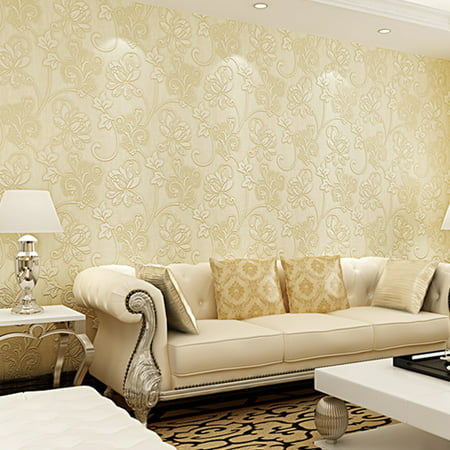 10m 3d Flower Pattern Wallpaper For Bedroom Living Room Decor