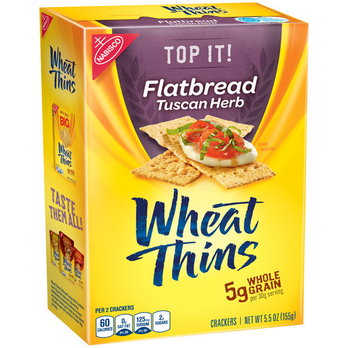 Nabisco Wheat Thins Flatbread Tuscan Herb Crackers, 5.5 oz