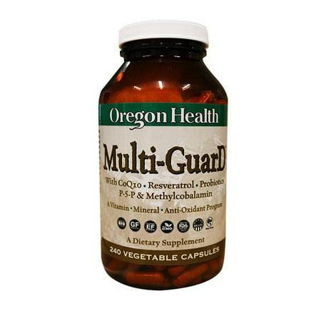 Multi Guard Vitamin Mineral Anti Oxidant Program Oregon Health 240 Caps