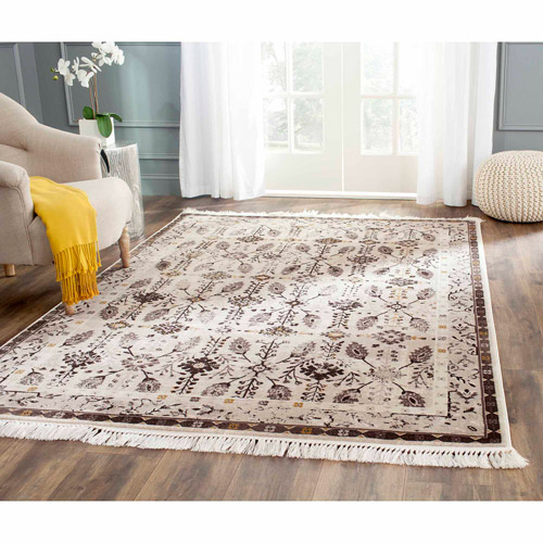 Safavieh Serenity Emalee Power Loomed Area Rug, Creme/Brown