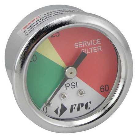 Pressure Gauge,Width (In.) 1-1/2 BALDWIN FILTERS - Bead Pressure Filter