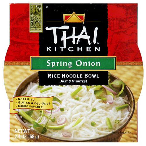Thai Kitchen Spring Onion Rice Noodle Bowl, 2.4 oz, (Pack of 6)