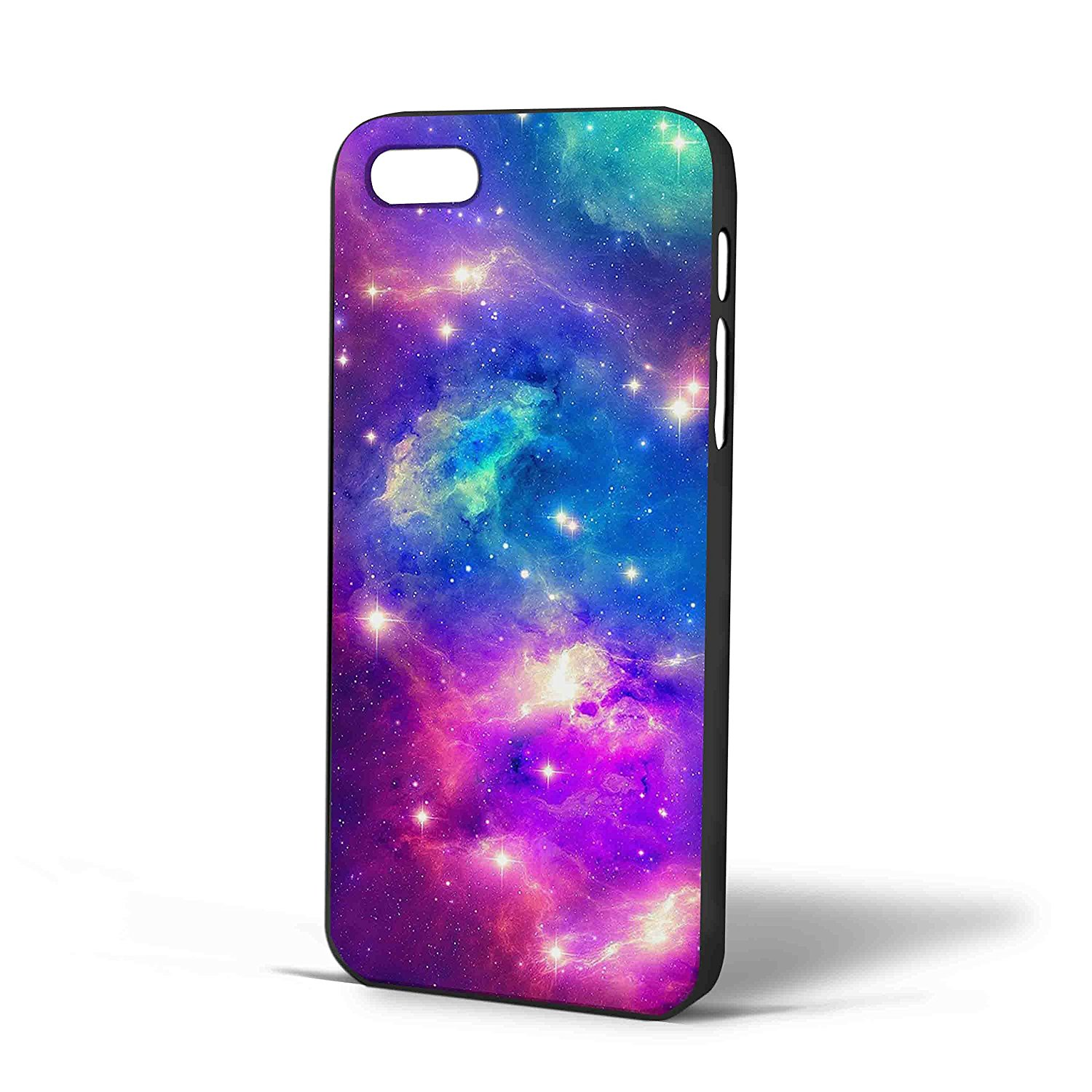 Ganma Generation Cute Blue Purple Blue Pink Galaxy Space Fantasy Case For iPhone Case (Case For iPhone 6 Plus Black)