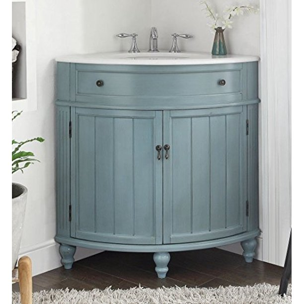 24 Vintage Light Blue Cottage Style, Thomasville Bathroom Vanity