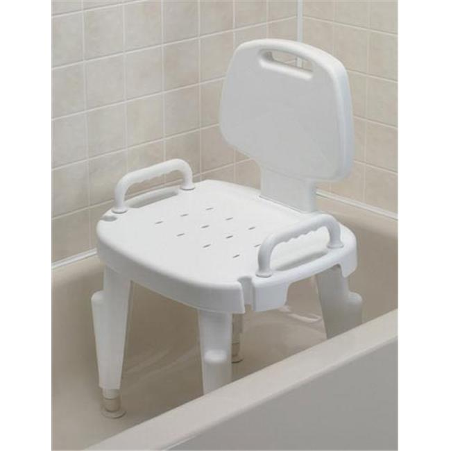 Complete Medical 1193B Shower Seat Adjustable with Arms and Back
