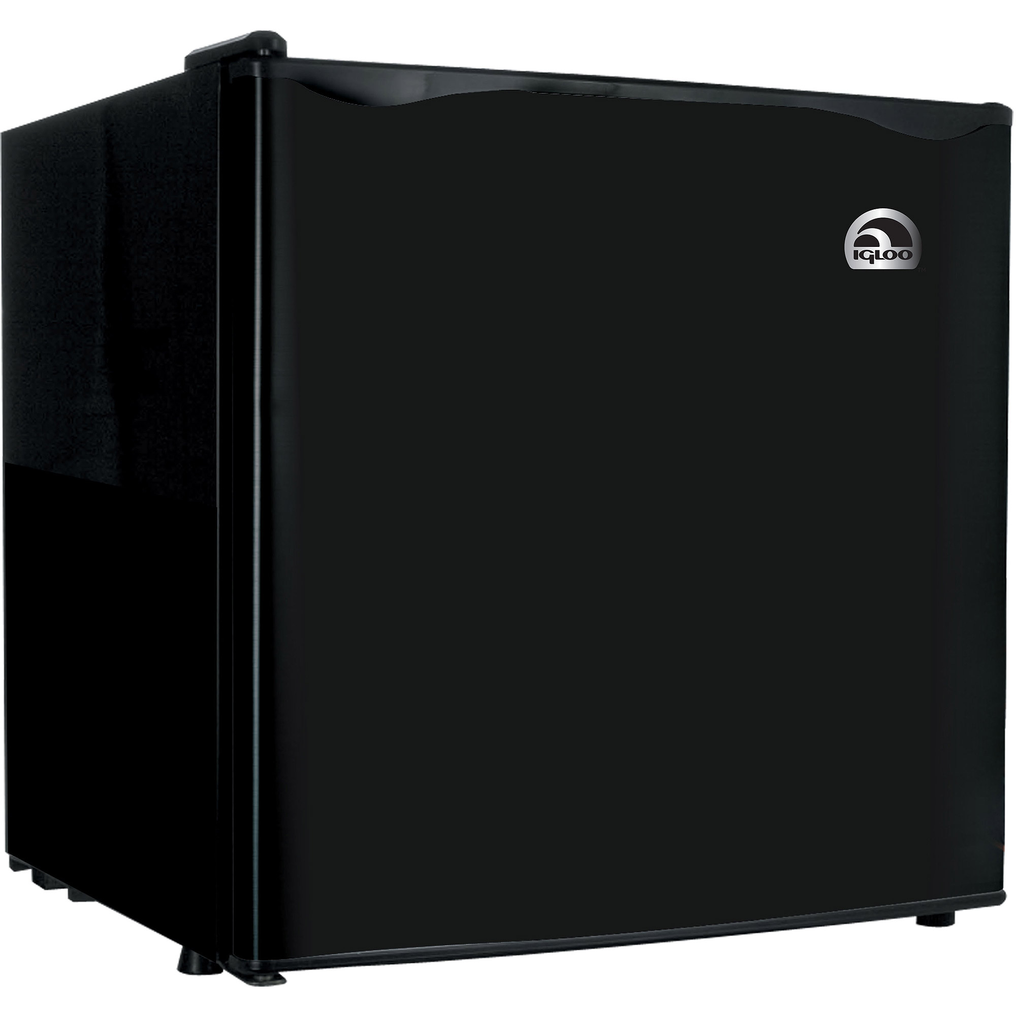 Igloo 1.6 cu ft Refrigerator and Freezer, black