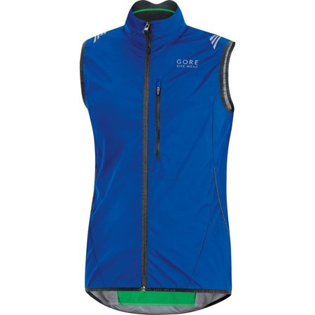 Gore Bike Wear Menâ??s Cycling Vest, Super-Light, Compact, GORE WINDSTOPPER, WS AS Vest, Size M, Neon Yellow/Black, VWLELE Brilliant Blue Small Gore Ws Thermal Tight