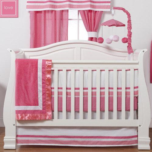 One Grace Place Simplicity 4 Piece Crib Bedding Set