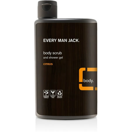 Every Man Jack  Body Scrub & Shower Gel, Citrus 16.9 oz (Pack of (Body Scrub Shower Gel)