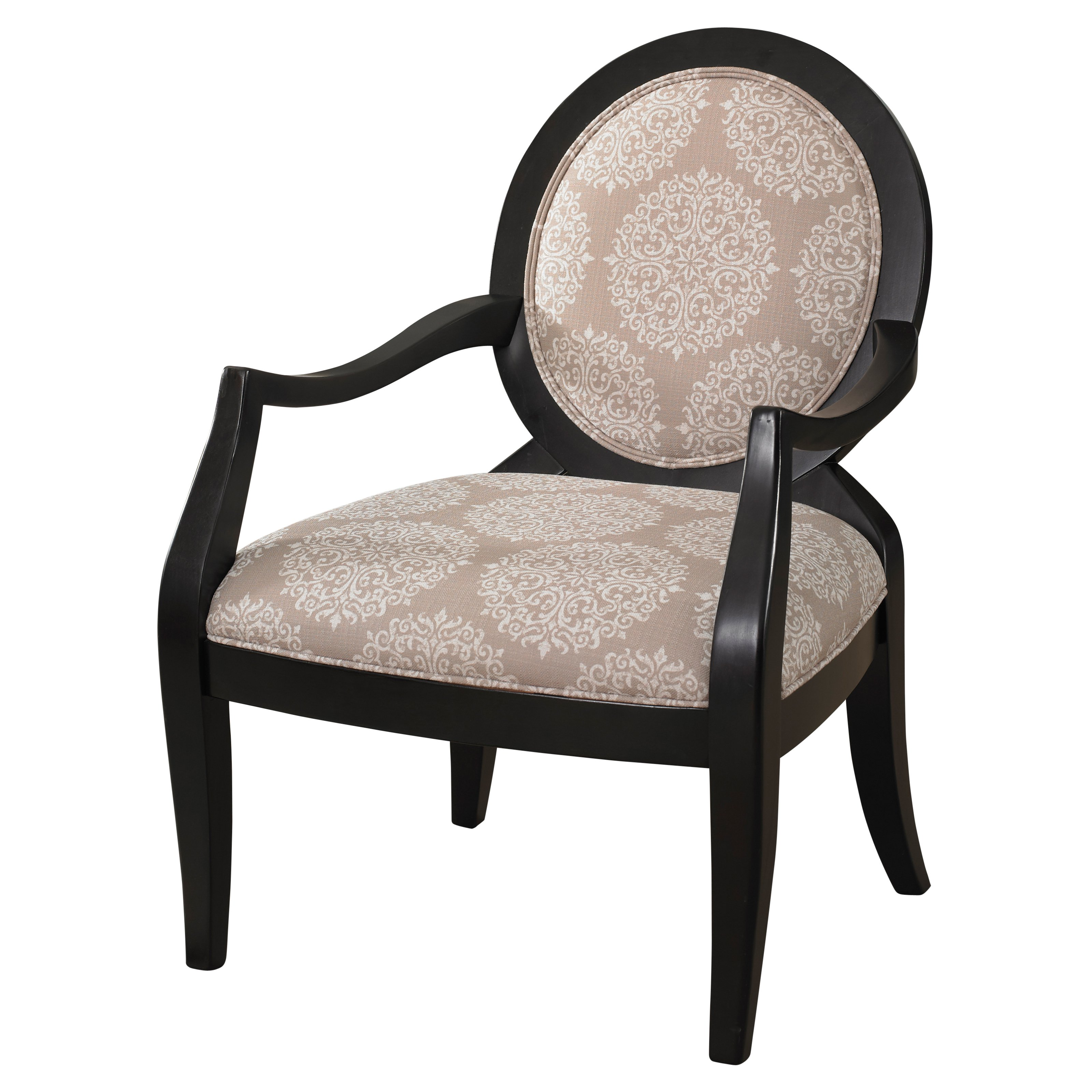 Powell Batik Pearl Black Framed Chair