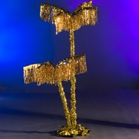 8 ft. 6 in. Gold Exotic Metallic Palm Tree