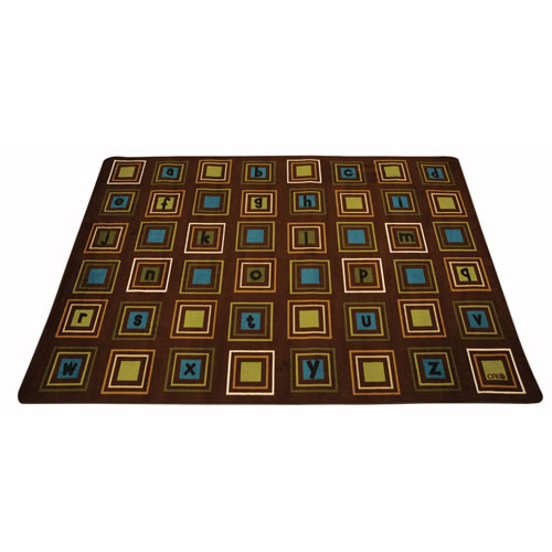 Literacy Squares Carpet 4' x 6'