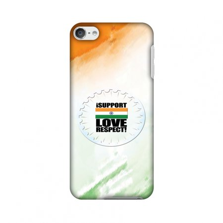 best cheap 70101 44ea0 iPod Touch 6th Gen Case - I Support Love India, Hard Plastic Back Cover,  Slim Profile Cute Printed Designer Snap on Case with Screen Cleaning Kit