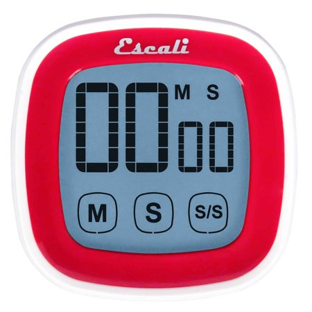 Escali Touch Screen Digital Timer, Red