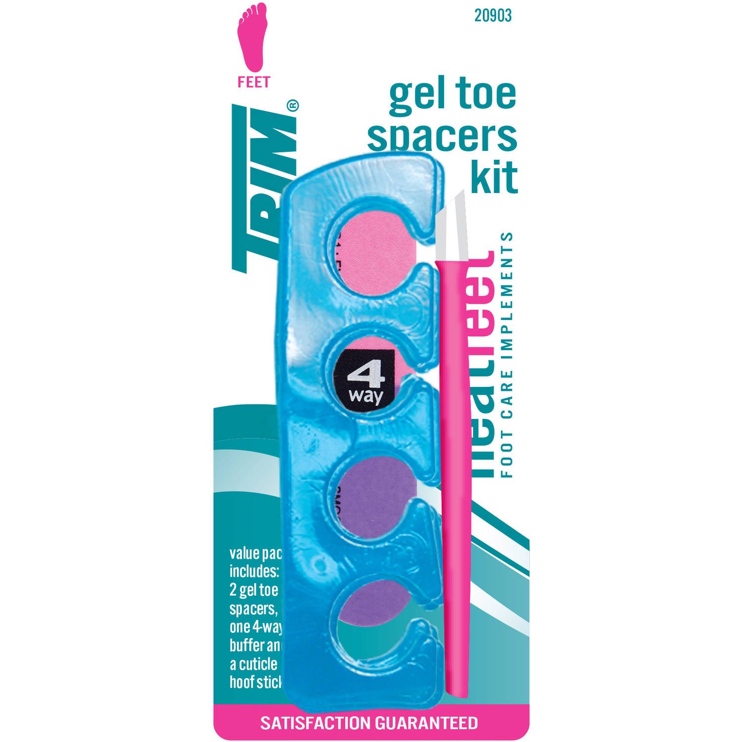 TRIM Gel Toe Spacers Kit, 3 pc