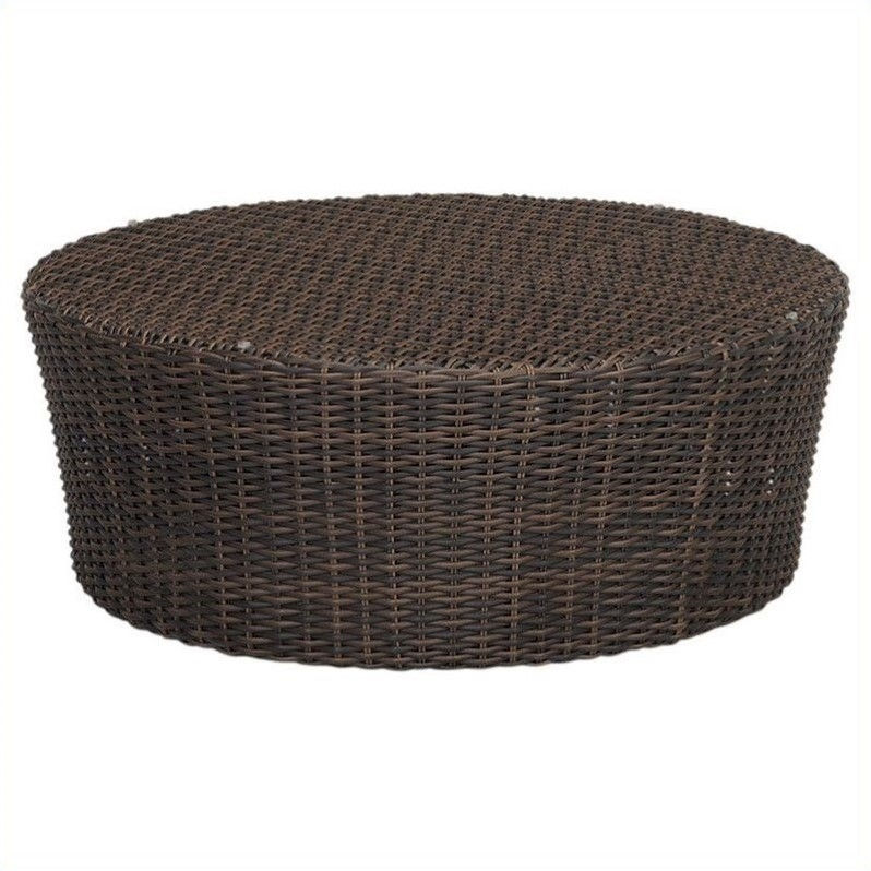 Sunset West Montecito Round Coffee Table in Cognac
