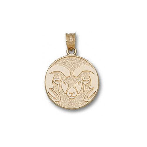 NCAA - Colorado State Rams 10K Gold Graphic Ram 5/8'' Pendant