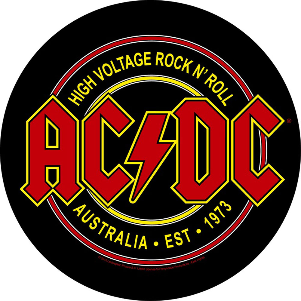 AC/DC Men's High Voltage Rock N Roll Back Patch Black