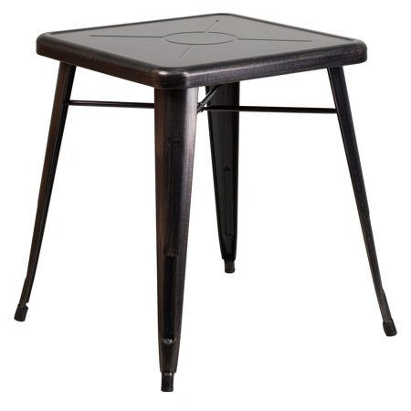 Flash Furniture 23.75u0022 Square Metal Indoor-Outdoor Table, Multiple Colors
