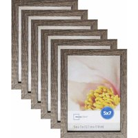"""Mainstays Linear 5"""" x 7"""" Rustic Frame, Set of 6"""