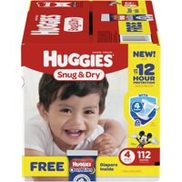 HUGGIES Snug & Dry Diapers (Choose Size & Count)
