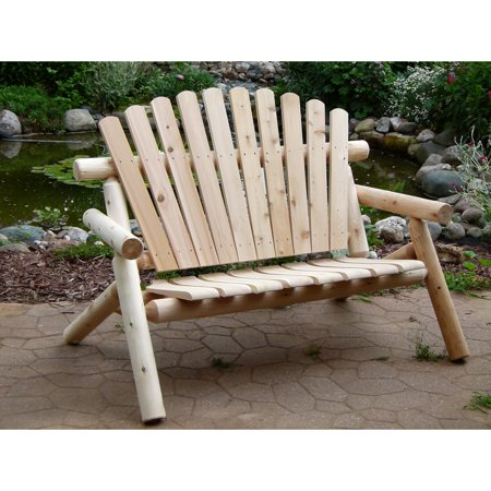 Brilliant Cedar Creek Rustic Furniture 53 In Cedar Garden Bench Bralicious Painted Fabric Chair Ideas Braliciousco