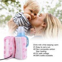 YLSHRF Portable Travel Mug Warmer,USB Portable Travel Mug Milk Warmer Heater Bottle Heater Feeding Bottle Infant Storage Bag , Milk Warmer