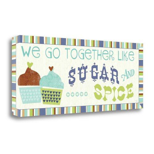 Tangletown Fine Art 'Luv 2 Bake V' Textual Art on Wrapped Canvas