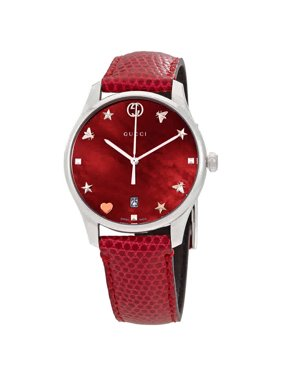 878ab770a Product Image Gucci G-Timeless Cherry Red Mother of Pearl Dial Ladies  Leather Watch YA1264041