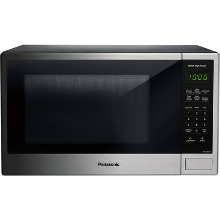 Panasonic 1.3 Cu. Ft. 1100W Countertop Stainless Steel Microwave Oven with Genius Sensor