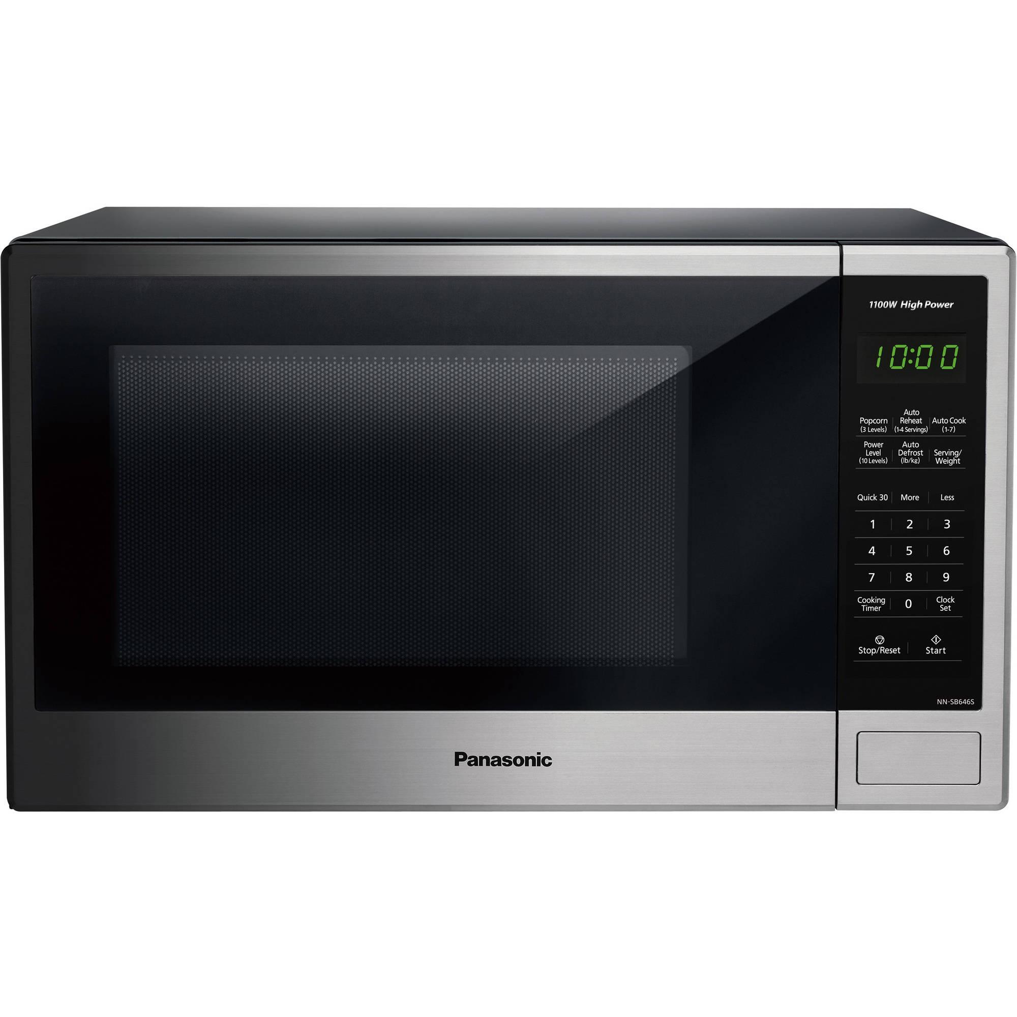 Panasonic 1 3 Cu Ft Microwave Oven Stainless Walmart Com