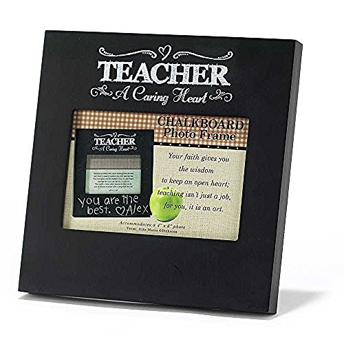 Chalkboard Photo Frame - Teacher - A Caring Heart