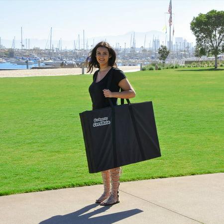 GoSports Foldable Cornhole Boards Bean Bag Toss Game Set, Superior Aluminum Frame, Black Design w/ 8 Bean Bags and Portable Carrying Case